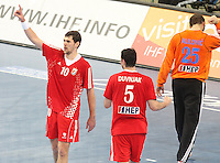 25.01.2013 Barcelona, Spain. IHF men's world championship, 3º/4º place. Picture show Jakov Gojun in action during game between Slovenia vs Croatia at Palau St. Jordi