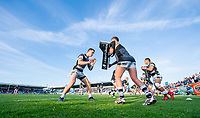 Picture by Allan McKenzie/SWpix.com - 10/05/2018 - Rugby League - Ladbrokes Challenge Cup - Featherstone Rovers v Hull FC - LD Nutrition Stadium, Featherstone, England - Hull FC warm up.