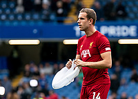 Jordan Henderson of Liverpool during the Premier League match between Chelsea and Liverpool at Stamford Bridge, London, England on 22 September 2019. Photo by Liam McAvoy / PRiME Media Images.