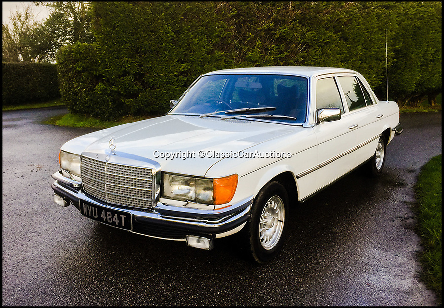 BNPS.co.uk (01202 558833)Pic: ClassicCarAuctions/BNPS<br /> <br /> How deep are your pockets?<br /> <br /> A classic Mercedes car that was owned for nearly three decades by Bee Gee Barry Gibb has emerged for sale for just £15,000.<br /> <br /> The Mercedes 450 SEL has been staying alive since 1977, and was bought by the singer a year later.<br /> <br /> The white saloon has done just 59,000 miles and is thought to have spent most of its 30 years parked on the grounds of Gibbs' mansion in Cheshire.<br /> <br /> The 71-year-old finally parted with the motor last year and it has now been put up for sale by its current owner.
