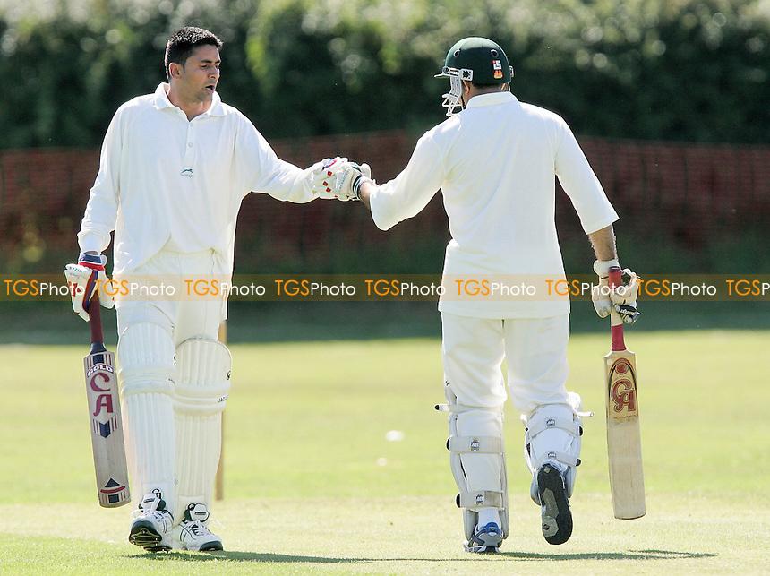 S Afzal (left) and J Patel of Noak Hill - Noak Hill Taverners CC vs Hornchurch Athletic CC - Lords International Cricket League -  04/08/07 - MANDATORY CREDIT: Gavin Ellis/TGSPHOTO - SELF-BILLING APPLIES WHERE APPROPRIATE. NO UNPAID USE. TEL: 0845 094 6026..