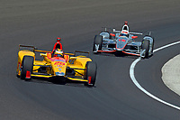 Verizon IndyCar Series<br /> Indianapolis 500 Carb Day<br /> Indianapolis Motor Speedway, Indianapolis, IN USA<br /> Friday 26 May 2017<br /> Ryan Hunter-Reay, Andretti Autosport Honda, Will Power, Team Penske Chevrolet<br /> World Copyright: F. Peirce Williams