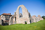 Mainly 14th century remains ruined buildings of Leiston Abbey, Suffolk, England, UK founded c. 1183 by Ranulf de Glanville