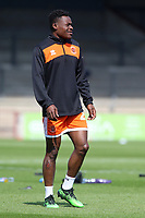 Blackpool's Marc Bola during the pre-match warm-up <br /> <br /> Photographer David Shipman/CameraSport<br /> <br /> The EFL Sky Bet League One - Scunthorpe United v Blackpool - Friday 19th April 2019 - Glanford Park - Scunthorpe<br /> <br /> World Copyright © 2019 CameraSport. All rights reserved. 43 Linden Ave. Countesthorpe. Leicester. England. LE8 5PG - Tel: +44 (0) 116 277 4147 - admin@camerasport.com - www.camerasport.com