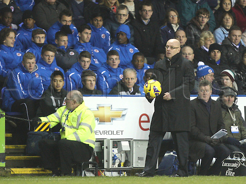 17.12.2012. Reading, England. ..Brian McDermott Manager of Reading..in action during the Premier League match between Reading and Arsenal from Madejski Stadium