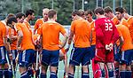 DEN HAAG - Oranje voor  de trainingswedstrijd hockey Nederland-Argentinie (1-2). COPYRIGHT KOEN SUYK