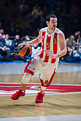 22nd March 2018, Aleksandar Nikolic Hall, Belgrade, Serbia; Turkish Airlines Euroleague Basketball, Crvena Zvezda mts Belgrade versus Fenerbahce Dogus Istanbul; Guard Taylor Rochestie of Crvena Zvezda mts Belgrade drives to the basket