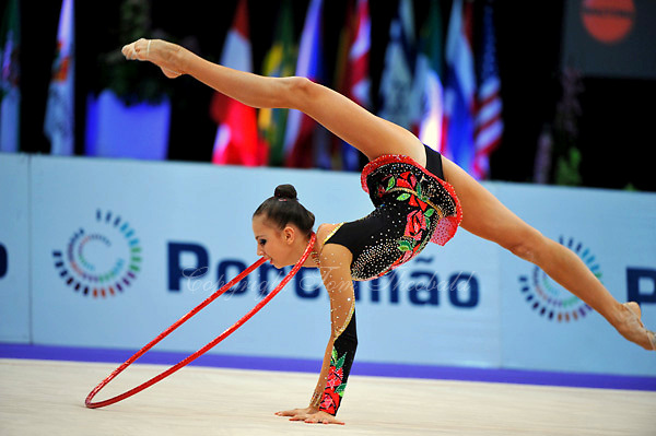 Daria Dmitrieva of Russia performs in Event Finals at 2010 World Cup at Portimao, Portugal on March 14, 2010.  (Photo by Tom Theobald).