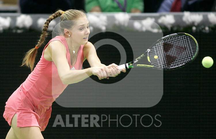 Russia's Ana Chakvetadze during her WTA Masters Championships tennis match in Madrid, November 08, 2007. (ALTERPHOTOS/Alvaro Hernandez).