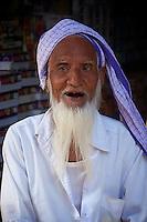 A very happy and joking old man,Bikaner Rajasthan India
