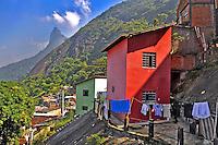 Favela no Morro Dona Marta. Rio de Janeiro. 2009. Foto de Luciana Whitaker.