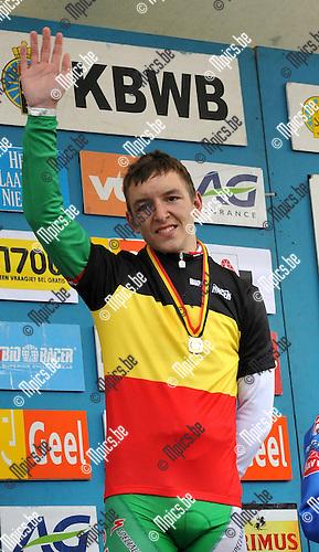 2010-05-30 / wielrennen / BK 2010 Geel / junioren / De kersverse Belgisch kampioen bij de junioren : Jasper De Buyst