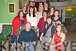Enjoying the Killarney Community College Christmas party in The Dromhall hotel on Friday night were John Keane, Deirdre Fleming, Breda Fitzgerald, Sharon Courtney, Moira O'Sullivan, Mary Fuller, Michelle O'Mahony, Denise O'Sullivan, Lorraine Crowley, Maureen O'Sullivan, Lorraine Cosgrave and Joanna Hughes.