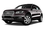 Stock pictures of low aggressive front three quarter view of 2016 Audi Q5 5 Door Suv Low Aggressive
