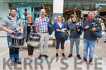 Chris Shortt, Ann Sheehan, Ger Baynhan, Karen McMahon, Faustas Cesnavicius and John Sheehan  providing the music as they await the arrival of the Special Olympics torch in the Mall on Monday afternoon.
