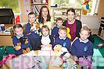All smiles for their first day at Scoil an Ghleanna on Thursday last pictured here front l-r; Orla Baróid, Meabh Ní Shúilleabháin, Daithí Ó Sé, Tadhg Ó Suilleabháin, back l-r; Aodín Ó Mongain, Olivia Ní Ghogáin, Conor Siochrú agus Máire Bean Uí Wynton.