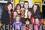 Pictured at the Holy Cross Mercy School Halloween party in the Dr Crokes clubhouse on Friday night were Shannon Lyne, Allanna O'Riordan Eddahlaas, Shaune White, Aisling O'Donovan, Jade de Virriers, Niamh O'Donovan, Noreen O'Riordan, Maria O'Donovan, David Foran and Teresa White.