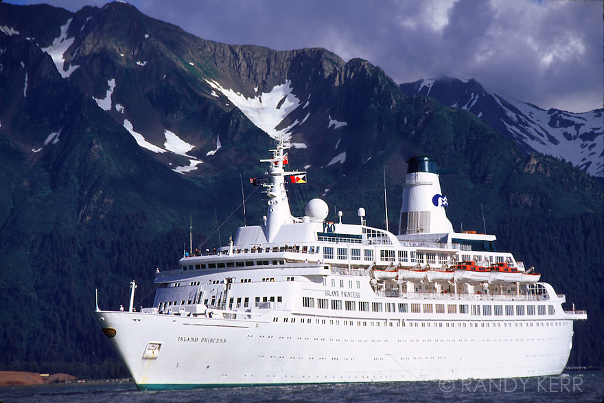Cruise ship entering Seward, AK