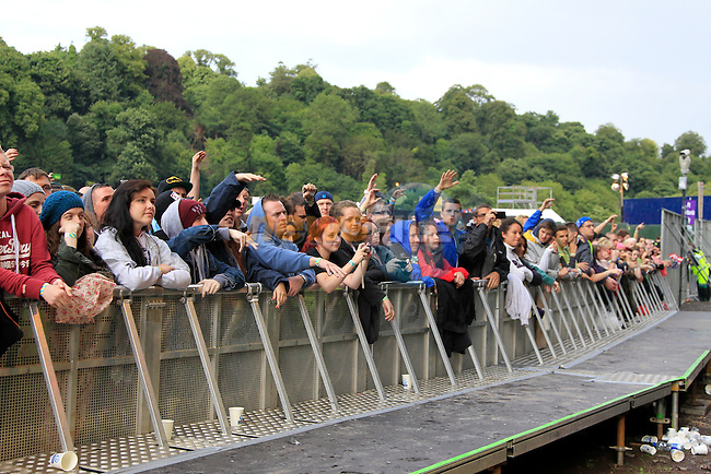 Fans at Slane Concert with Eminem 2013 on Saturday 17th August 2013 <br /> Picture:  Thos Caffrey / www.newsfile.ie