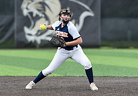 NWA Democrat-Gazette/CHARLIE KAIJO Rogers Heritage High School Sydney Price (22) throws during the 6A State Softball Tournament, Thursday, May 9, 2019 at Tiger Athletic Complex at Bentonville High School in Bentonville. Rogers Heritage High School lost to Northside High School 8-6