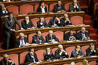 Roma, 2 Ottobre 2013<br /> Senato <br /> Gli scranni del PDL durante l'intervento del Primo  Ministro Enrico Letta