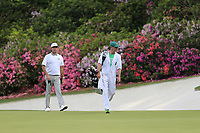 Bubba Watson (USA) on the 13th green during the 1st round at the The Masters , Augusta National, Augusta, Georgia, USA. 11/04/2019.<br /> Picture Fran Caffrey / Golffile.ie<br /> <br /> All photo usage must carry mandatory copyright credit (&copy; Golffile | Fran Caffrey)