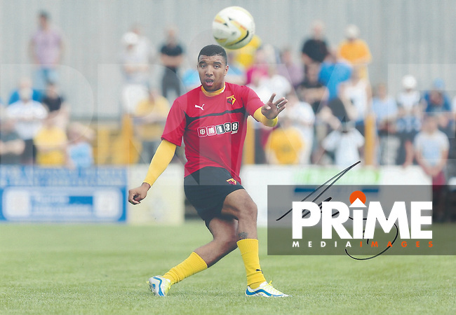 Troy Deeney of Watford Signed Photos at St Albans FC, England on July 2014. Photo by Andy Rowland.