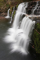 Sgwd Y Pannwr waterfall on Mellte river, Brecon Beacons national park, Wales