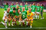 01.05.2019, RheinEnergie Stadion , Köln, GER, DFB Pokalfinale der Frauen, VfL Wolfsburg vs SC Freiburg, DFB REGULATIONS PROHIBIT ANY USE OF PHOTOGRAPHS AS IMAGE SEQUENCES AND/OR QUASI-VIDEO<br /> <br /> im Bild | picture shows:<br /> Caroline Graham Hansen (VfL Wolfsburg #26), Ella Masar McLeod (VfL Wolfsburg #30), Sara Bjoerk Gunnarsdottir (VfL Wolfsburg #7), Pernille Harder (VfL Wolfsburg #22)  und Mary Earps (VfL Wolfsburg #27) jubeln mit dem Pokal, <br /> <br /> Foto © nordphoto / Rauch