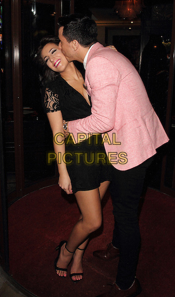 LONDON, UNITED KINGDOM - FEBRUARY 25: Louise Cole and Russell Kane attends the launch of 'Total Mink'. a new brand of ethically produced mink eyelashes at The Sanctum Soho Hotel on February 25, 2014 in London, England<br /> CAP/ROS<br /> &copy;Steve Ross/Capital Pictures