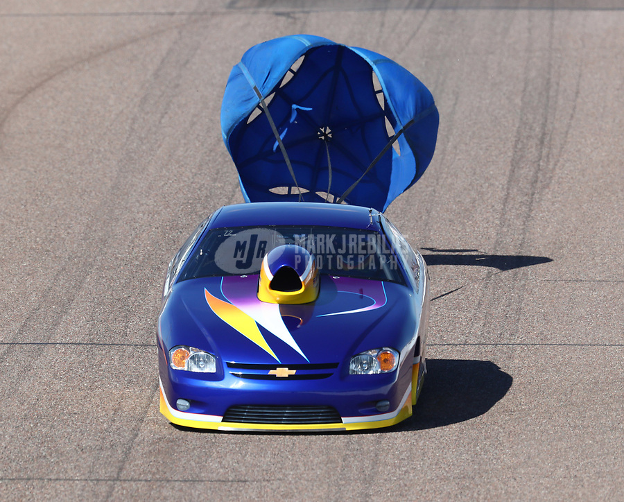 Feb 23, 2019; Chandler, AZ, USA; NHRA top sportsman driver Chris Newman during qualifying for the Arizona Nationals at Wild Horse Pass Motorsports Park. Mandatory Credit: Mark J. Rebilas-USA TODAY Sports