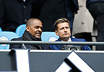 Former player Mark Bright with Crystal Palace owner Steve Parish during the English Premier League match at the Etihad Stadium, Manchester. Picture date: May 6th 2017. Pic credit should read: Simon Bellis/Sportimage