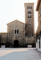 Italy: Ravenna--church of S. Francesco. Church, 5th C.; Campanile, 10th C. but dubious authenticity; lots of war damage. Photo '83.