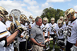 DURHAM, NC - APRIL 30: Notre Dame head coach Kevin Corrigan. The University of North Carolina Tar Heels played the University of Notre Dame Fighting Irish on April 30, 2017, at Koskinen Stadium in Durham, NC in a 2017 ACC Men's Lacrosse Tournament Championship match. UNC won the game 14-10.