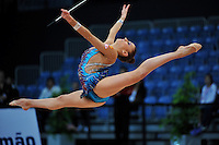 Evgeniya Kanaeva of Russia performs at 2010 World Cup at Portimao, Portugal on March 13, 2010.  (Photo by Tom Theobald).