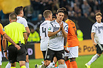 06.09.2019, Volksparkstadion, HAMBURG, GER, EMQ, Deutschland (GER) vs Niederlande (NED)<br /> <br /> DFB REGULATIONS PROHIBIT ANY USE OF PHOTOGRAPHS AS IMAGE SEQUENCES AND/OR QUASI-VIDEO.<br /> <br /> im Bild / picture shows<br /> <br /> Toni Kroos (Deutschland / GER #08) Elfmeter zum 2:2 jubel <br /> <br /> während EM Qualifikations-Spiel Deutschland gegen Niederlande  in Hamburg am 07.09.2019, <br /> <br /> Foto © nordphoto / Kokenge