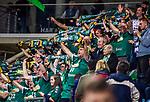 Leipzig Fans beim Spiel in der Handball Bundesliga, SG BBM Bietigheim - SC DHfK Leipzig.<br /> <br /> Foto &copy; PIX-Sportfotos *** Foto ist honorarpflichtig! *** Auf Anfrage in hoeherer Qualitaet/Aufloesung. Belegexemplar erbeten. Veroeffentlichung ausschliesslich fuer journalistisch-publizistische Zwecke. For editorial use only.