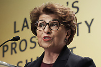 """Washington, DC - September 24, 2019: Principal Advisor of US Department of Treasury Jovita Carranza delivers remark about """"Leading Latinas"""" today Sep 24, 2019 at Latina's Prosperity Summite in Washington DC. Principal Advisor US Department of Treasure Jovita Carranza  September 24, 2019. (Photo by Lenin Nolly/Media Images International)"""