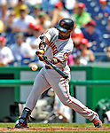 8 June 2008: San Francisco Giants' second baseman Ray Durham at bat against the Washington Nationals at Nationals Park in Washington, DC. The Giants rallied to defeat the Nationals 6-3 in their third consecutive win of the 4-game series...Mandatory Photo Credit: Ed Wolfstein Photo