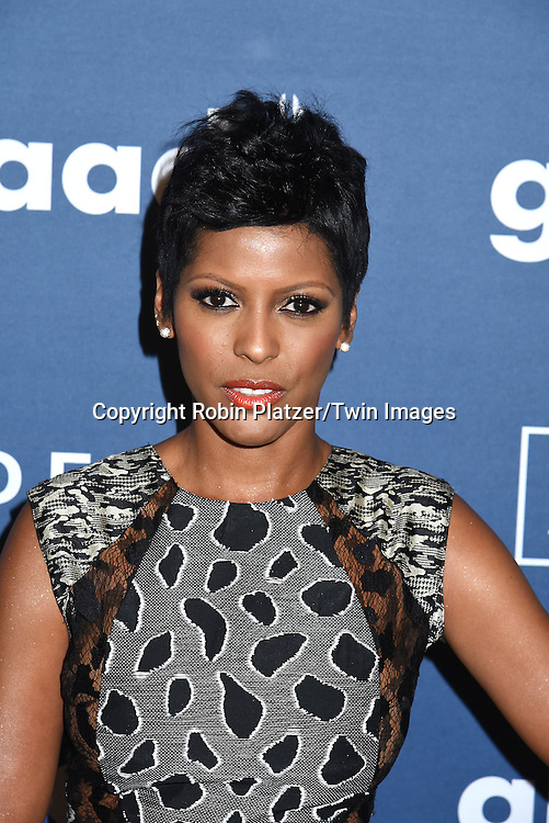 Tamron Hall attends the 27th Annual GLAAD Media Awards on May 14, 2016 at the Waldorf Astoria Hotel in New York City, New York, USA.<br /> <br /> photo by Robin Platzer/Twin Images<br />  <br /> phone number 212-935-0770