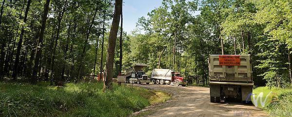 Anadarko drilling gas pad site area. 6203 Dam Run Road.