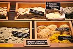 Fresh pasta for sale at the San Miguel Market (Mercado de San Miguel) in Madrid, Spain.