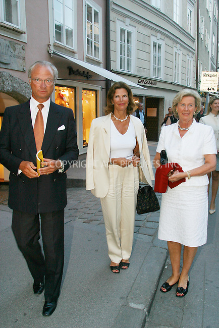 *** USA RIGHTS ONLY***    ..Queen Silvia of Sweden and King Carl Gustav at the Salzburg Festival 2002. August 3, 2002. REF: PPSA2059. Please byline: NY Photo Press.   ..*PAY-PER-USE*      ....NY Photo Press:  ..phone (646) 267-6913;   ..e-mail: info@nyphotopress.com