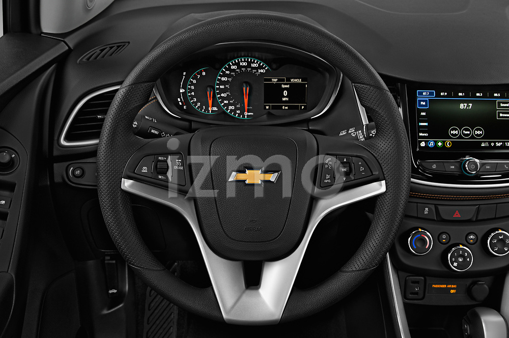 Car pictures of steering wheel view of a 2018 Chevrolet Trax LT 5 Door SUV