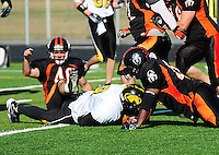 The Madison Mustangs win the second game of the playoffs 52-6 on Sunday, August 24, 2008 at Middleton High School's Breitenbach Stadium in Middleton, Wisconsin