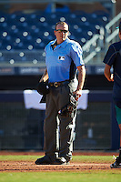 Umpire Ronnie Teague during an Arizona Fall League game between the Mesa Solar Sox and Peoria Javelinas on October 19, 2016 at Peoria Stadium in Peoria, Arizona.  Peoria defeated Mesa 2-1.  (Mike Janes/Four Seam Images)