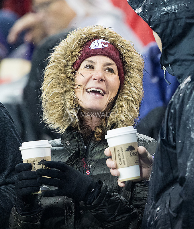 They may not have had good football, but at least these Cougar fans had coffee to warm their hearts.