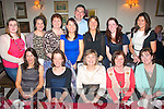 FAREWELL: Liz O'Donnell, Firies (seated centre) who is transferring from Kerry Co Co motor tax department, Rathass, Tralee, to the dept of environment, pictured here with her colleagues at a farewell dinner in Bella Bia restaurant on Friday night, seated l-r: Norma Enright, Siobhan Stack, Liz O'Donnell, Myra Griffin, Teresa Sheehan, Emma O'Connell, Karen Twamley, Ann Brosnan, Mary O'Shea, Mike O'Sullivan, Nora Curren, Olive McKenna with Theresa Scanlon.