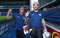 Blackburn Rovers' Elliott Bennett and Blackburn Rovers' Danny Graham <br /> <br /> Photographer Rachel Holborn/CameraSport<br /> <br /> The EFL Sky Bet League One - Blackburn Rovers v Oxford United - Saturday 5th May 2018 - Ewood Park - Blackburn<br /> <br /> World Copyright &copy; 2018 CameraSport. All rights reserved. 43 Linden Ave. Countesthorpe. Leicester. England. LE8 5PG - Tel: +44 (0) 116 277 4147 - admin@camerasport.com - www.camerasport.com