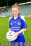 Emma O'Regan from Presentation Primary school Castleisland at the Allianz Cumann na mBunscol, Girls Finals at Austin Stacks Park on Tuesday